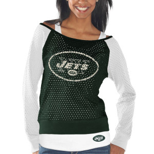 Jets Cream All American Raglan Three-Quarter Length Sleeve T-Shirt ...