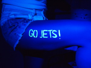 Jets Night time UV Tatoo