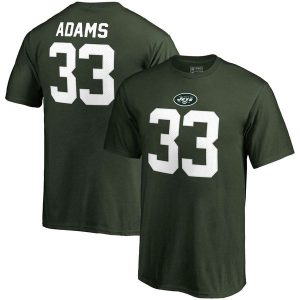 Jamal Adams New York Jets Authentic Stack Name & Number T-Shirt