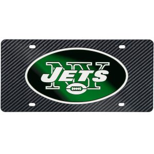 New York Jets Carbon Fiber License Plate