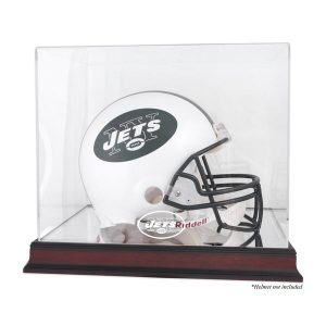 New York Jets Fanatics Authentic Mahogany Helmet Logo Display Case with Mirror Back