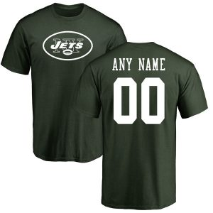 New York Jets NFL Pro Line Any Name & Number Logo Personalized T-Shirt