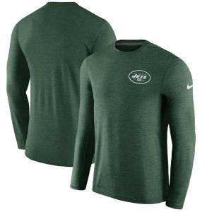 New York Jets Nike Sideline Coaches Long Sleeve Performance T-Shirt