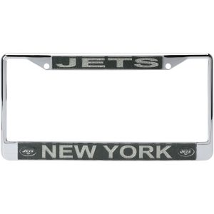New York Jets Acrylic Glitter Team Logo License Plate Frame