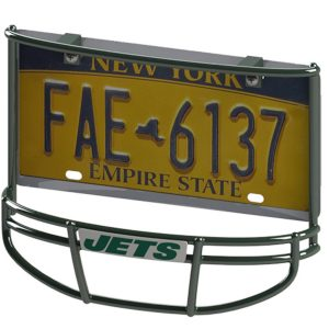 New York Jets Facemask License Plate Frame
