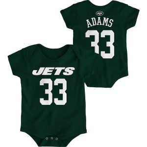 Newborn New York Jets Jamal Adams Green Mainliner Name and Number Bodysuit