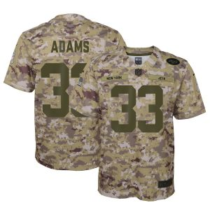 Youth New York Jets Jamal Adams Nike Camo Salute to Service Game Jersey