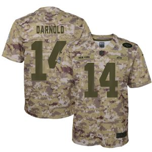 Youth New York Jets Sam Darnold Nike Camo Salute to Service Game Jersey