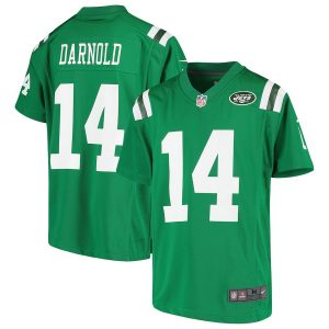 Youth New York Jets Sam Darnold Nike Green Color Rush Player Game Jersey