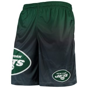 New York Jets Gradient Big Logo Training Shorts – Green