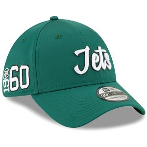 New York Jets New Era 2019 NFL Sideline Home Official 39THIRTY 1960s Flex Hat – Green