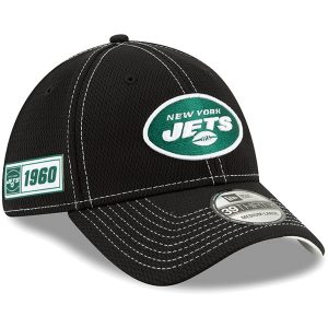 New York Jets New Era 2019 NFL Sideline Road Official 39THIRTY Flex Hat – Black