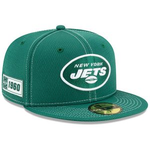 New York Jets New Era 2019 NFL Sideline Road Official 59FIFTY Fitted Hat – Green