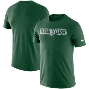 New York Jets Nike Fan Gear Mezzo Tear Performance T-Shirt – Green