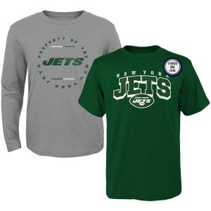 New York Jets Youth Club Short Sleeve & Long Sleeve T-Shirt Combo Pack
