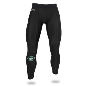 New York Jets Zubaz Speed Leggings – Black