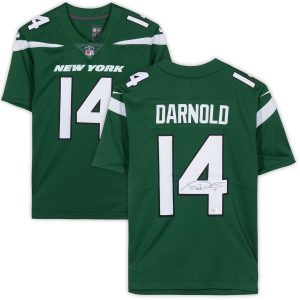 Sam Darnold New York Jets Fanatics Authentic Autographed Nike Green Limited Jersey