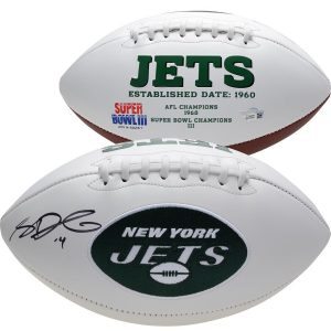 Sam Darnold New York Jets Fanatics Authentic Autographed White Panel Football