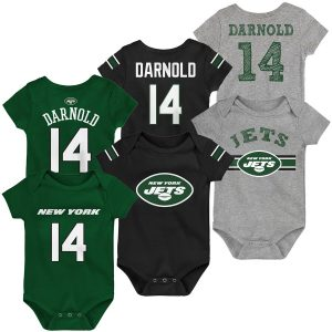 Sam Darnold New York Jets Newborn & Infant Name & Number Three-Pack Bodysuit Set