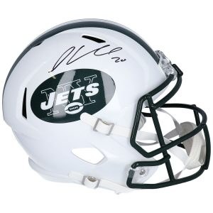Autographed New York Jets Chris Ivory Fanatics Authentic Throwback Riddell Speed Replica Helmet