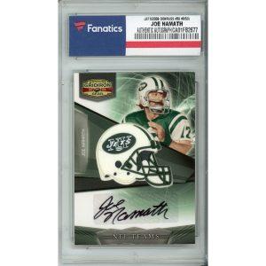 Autographed New York Jets Joe Namath 2009 Donruss Gridiron Gear #30 #9/50 Card – Donruss