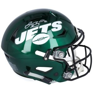 Autographed New York Jets Le'Veon Bell Fanatics Authentic Riddell AMP Speed Flex Helmet