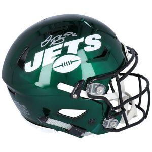Autographed New York Jets Le'Veon Bell Fanatics Authentic Riddell AMP Speed Flex Helmet