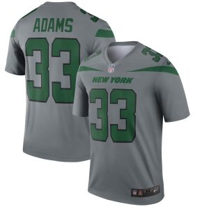 Jamal Adams New York Jets Nike Inverted Legend Jersey – Gray