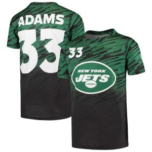 Jamal Adams New York Jets Youth Propulsion Sublimated Name & Number T-Shirt – Green