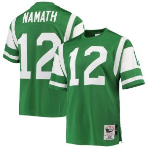 Joe Namath New York Jets Mitchell & Ness Authentic Retired Player Jersey – Green