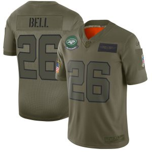 Le'Veon Bell New York Jets Nike 2019 Salute to Service Limited Jersey – Olive