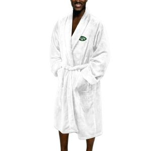 Men's New York Jets The Northwest Company White Silk Touch Robe