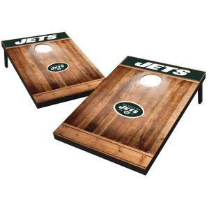New York Jets 2′ x 3′ Wood Design Cornhole Board Tailgate Toss Set