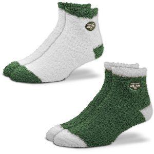 New York Jets For Bare Feet Women's 2-Pack Sleep Soft Socks