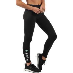 New York Jets G-III 4Her by Carl Banks Women's Team Post Season Leggings – Black