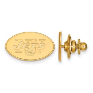 New York Jets Gold-Plated Logo Lapel Pin