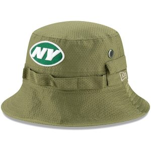 New York Jets New Era 2019 Salute to Service Sideline Adventure Bucket Hat – Olive