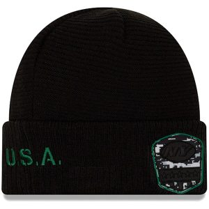 New York Jets New Era Youth 2019 Salute to Service Cuffed Knit Hat – Black