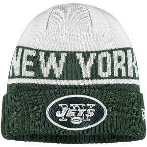 New York Jets New Era Youth Chilled Cuffed Knit Hat – White/Green