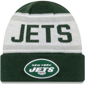 New York Jets New Era Youth Stated Cuffed Knit Hat – Green/White