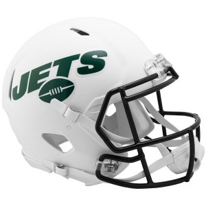 New York Jets Riddell Flat White Alternate Revolution Speed Authentic Football Helmet