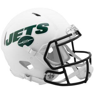 New York Jets Riddell Flat White Alternate Revolution Speed Authentic Football Helmet