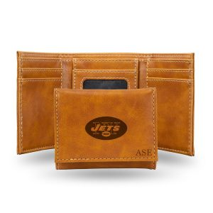 New York Jets Sparo Brown Personalized Trifold Wallet