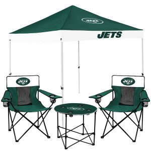 New York Jets Tailgate Canopy Tent, Table, & Chairs Set