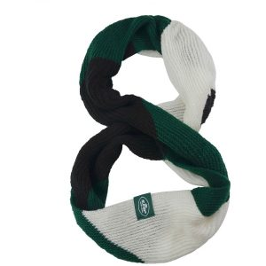 New York Jets Women's Color Block Knit Infinity Scarf