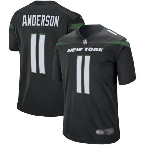 Robby Anderson New York Jets Nike Game Jersey – Stealth Black