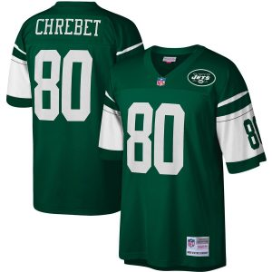 Wayne Chrebet New York Jets Mitchell & Ness Legacy Replica Jersey – Green