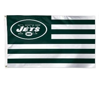 New York Jets WinCraft 3′ x 5′ Americana Stars & Stripes Deluxe Flag